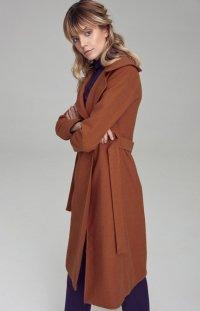 Wiązany płaszcz Nife miodowy cpl02