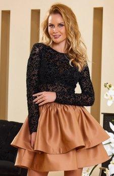 Roco 0176 sukienka karmelowa