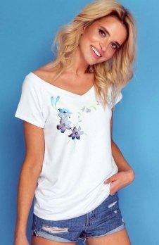 Knits K171 bluzka z nadrukiem kwiatów