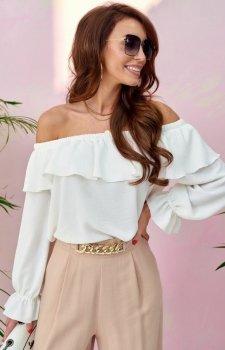 Modna bluzka hiszpanka ecru 0116