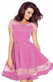 Bergamo 59-04 sukienka brudny róż