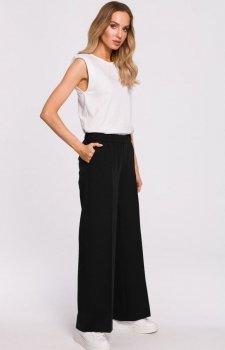 Szerokie spodnie damskie plazzo czarne M570