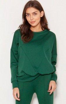Luźna bluza damska zielona BLU148