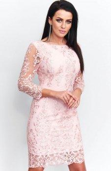 *Roco 0122 sukienka różowa
