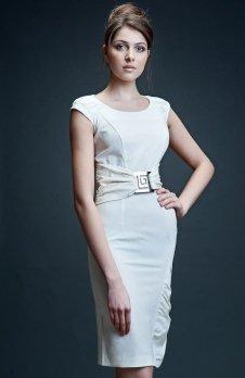 Vera Fashion Bianka sukienka ecru