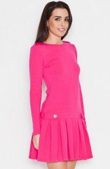 Katrus K267 sukienka róż