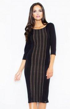 Figl M411 sukienka czarna