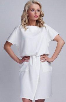 Lanti SUK117 sukienka biała