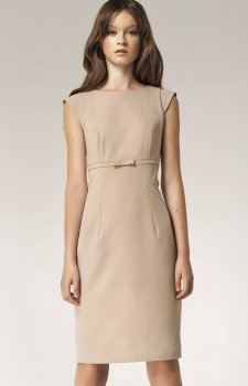 Nife S36 sukienka beżowa