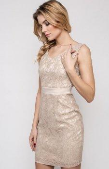 Vera Fashion Vanda sukienka beżowa