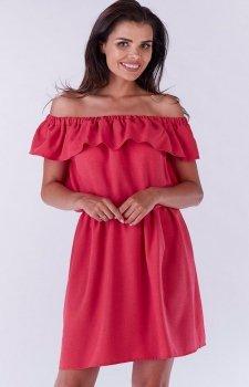 Awama A185 sukienka róż fuksja