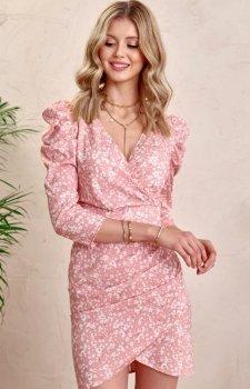 Ołówkowa sukienka w kwiaty 0329/L01