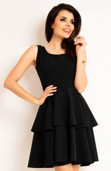 Awama A163 sukienka czarna