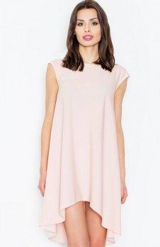 Figl M450 sukienka pudrowy róż