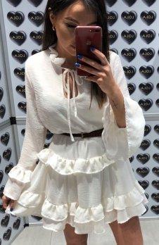 Lola Fashion Spanish sukienka biała