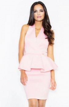 Figl M368 sukienka pudrowy róż