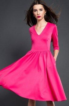 Kasia Miciak rozkloszowana midi sukienka