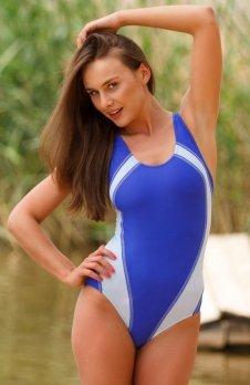 Demi Saison Kostium kąpielowy Mauritius granatowo-j.niebieski
