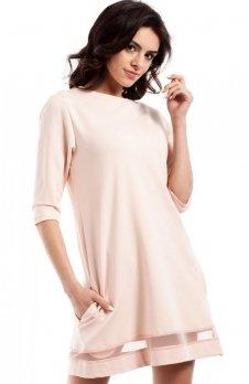 Moe MOE219 sukienka brzoskwiniowa