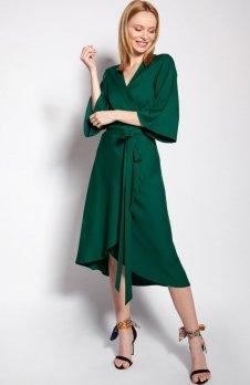 Sukienka kopertowa zielona SUK185