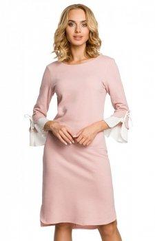 Moe M327 sukienka pudrowy róż