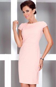 *SAF 37-1 sukienka brzoskwiniowa