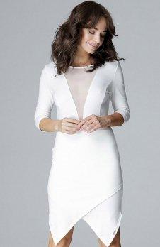 Lenitif L012 sukienka ecru
