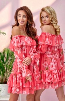 Kwiatowa sukienka hiszpanka 0332/U60