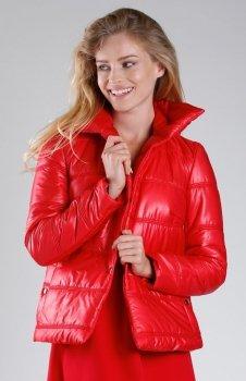 Czerwona pikowana kurtka NA082LP