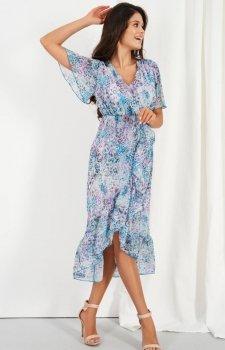 Zwiewna asymetryczna sukienka maxi LG523/D14