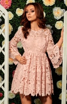 Lemoniade L262 sukienka pudrowy róż
