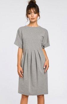 3895e58caa Style S093 sukienka szara - Sukienki do biura - Sukienki - Moda ...