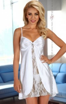 Beauty Night Alexandra chemise white komplet
