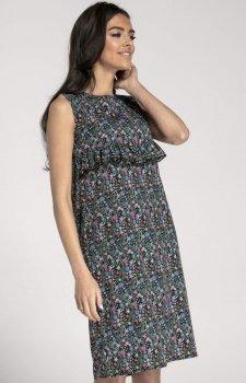 Prosta sukienka w kwiaty NA1001
