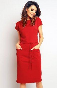 Infinite You M085 sukienka czerwona