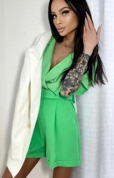 Elegancki kombinezon damski zielony