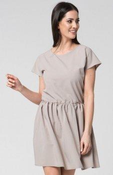 Mosali M022 sukienka beżowa