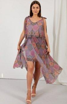 Asymetryczna sukienka maxi LG548/D20