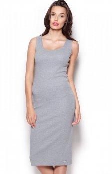 Figl M282 sukienka szara
