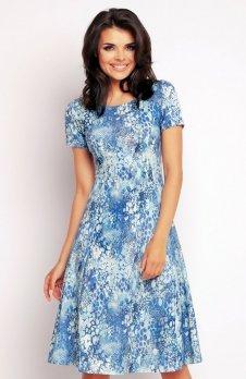 Awama A144 sukienka niebieska