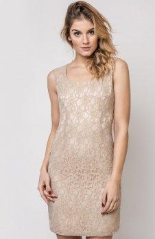 Vera Fashion Maja sukienka beżowa