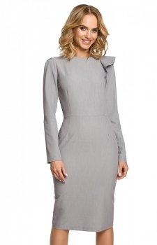 Moe M326 sukienka szara
