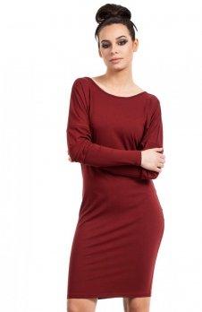 BE B020 sukienka bordowa