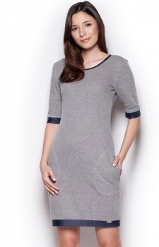 Figl M348 sukienka ciemny szary