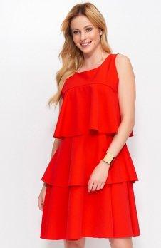 Makadamia M381 sukienka czerwona