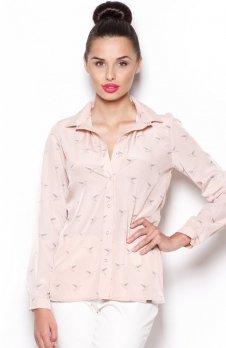 Figl M284 koszula różowa