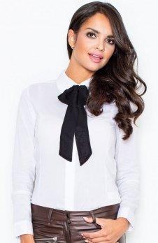 Figl M180 koszula biało-czarna