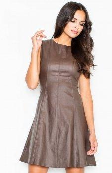 Figl M342 sukienka brąz