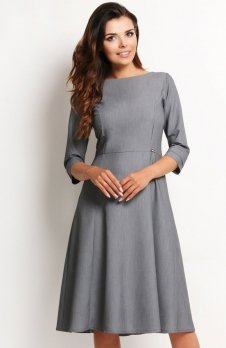 Awama A112 sukienka szara