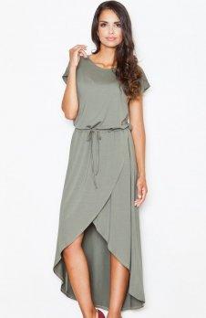 Figl M394 sukienka oliwkowa